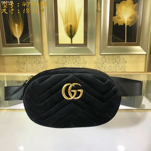 6dc8acf3b27 Gucci 476434 GG Marmont matelassé belts bag black leather